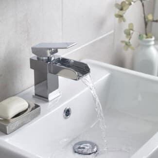 small chrome basin mixer top