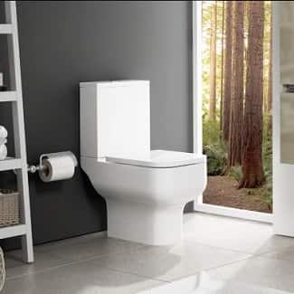Close Coupled Toilet White
