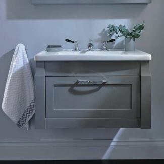 Grey traditional wall hung Westbury vanity unit