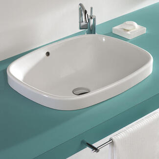 fully recess basin sits fully into a work top