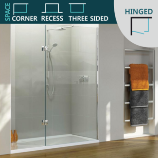 Hinged Shower Door set