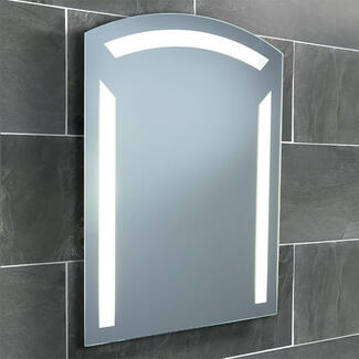 Mirror with light and demister in the bathroom