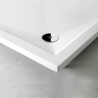 40mm white shower tray