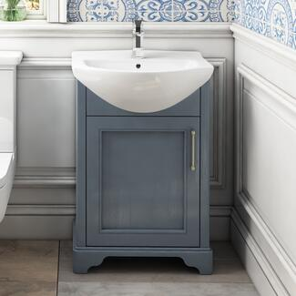 Small bathroom sink unit
