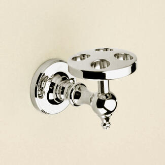 Tooth brush holder chrome wall hung