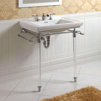 bathroom washstand designer brand with marble and chrome