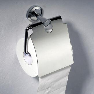 Chrome wall hanging modern toilet roll holder