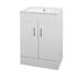 Mercury 600mm Basin Unit straight Designer Bathroom and Cloakroom