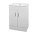 Mercury 600mm Basin Unit straight Designer Bathroom and Cloakroom