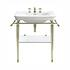 Large Basin 700mm White with Etoile Vergennes Basin Stand Antique Gold
