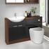 Combination basin and toilet cabinet