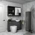 Hacienda 1200 Vanity Unit Grey curved High Quality Bathroom