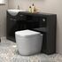 Hacienda 1500 Vanity Unit Black curved Stylish Bathroom