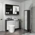 Hacienda 1200 Vanity Unit White curved Luxurious Bathroom and Cloakroom