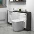 Hacienda 1500 Vanity Unit White curved Designer and Stylish Bathroom Accessory