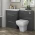 Patello 1200 Bathroom Furniture Set Grey straight Contemporary Bathroom