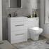 Patello 1200 Bathroom Furniture Set White straight Stylish Bathroom and Cloakroom