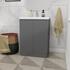 Mercury 60 Bathroom Vanity Unit Grey And Basin straight Luxurious and Stylish Bathroom Accessory