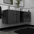 luxury gloss grey vanity unit