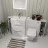Patello 1600 Fitted Furniture Bathroom Vanity Set White - 174752