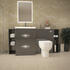 Patello 1600 Fitted Bathroom Furniture Grey - 174753
