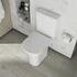 Patello Rimless Open Back Close Couple Toilet with Ultra Thin Soft Close Quick Release Seat - 178291