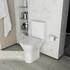 Patello Rimless Open Back Close Couple Toilet with Ultra Thin Soft Close Quick Release Seat