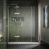 Eauzone Hinged Door with Hinge Panel and Inline Panel For Recess 1100mm Luxurious Stylish Bathroom Accessory