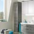 6001 Solitaire Bathroom Storage Cabinet Tall Boy 2 Door 1 Drawer