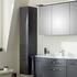 6001 Solitaire Bathroom Storage Cabinet Tall Boy 2 Door 1 Drawer - 175372