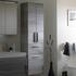 Balto Double Tall Boy Bathroom Storage cabinet 3 Doors 1 Drawer