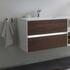 Luxury wall hung design Solitaire 6010 Bathroom Vanity Unit 770 2 Drawer
