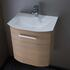small quality Solitaire 6900 440 Wall Hung Bathroom Vanity Unit 1 Door Cloakroom vanity
