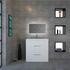 PATELLO 800 2 DRAW WHITE AND BASIN straight Designer Bathroom