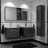 double grey bathroom vanities