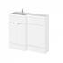 Modern Designer 1000mm Combination Bathroom Furniture Vanity Unit (Colour Options) straight basin