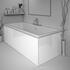 White acrylic bath panels