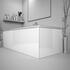 White bath panel