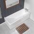 modern rectangle SLIM SINGLE ENDED BATH