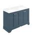 Traditional Designer STIFFKEY BLUE 1200MM 4 DOOR BASIN CABINET curved basin
