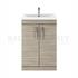 Modern contempory Atheana 600 Free standing 2-Door Bathroom Vanity unit (colour options) straight basin
