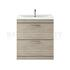Modern contempory Atheana 800 Free standing 2-Draw Bathroom Vanity unit (colour options) straight basin