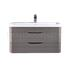 fashionable Eclipse Wall Hung 800mm Cabinet & Basin