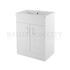 Traditional Designer Eden White Mid-Edged 600mm Basin Unit straight basin