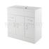 Traditional periodic Eden White Minimalist 800mm Basin Unit straight basin