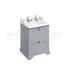 Traditional Designer Freestanding 65 Vanity Unit with 2 drawers curved basin