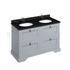 Traditional Designer Freestanding 130 Vanity Unit with drawers straight basin