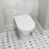 Patello Rimless Back to Wall Toilet and Ultra Thin Soft Close Quick Release Seat - 178292