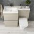 Pemberton L shape 2 drawer handless bathroom Suite - 178518