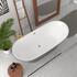 Floorstanding Bow Bath in bath above view